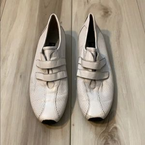 Paul Green White Leather Sneakers, Sz 7.5